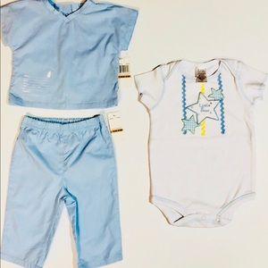 Boy Infant  Blue Scrubs NWT